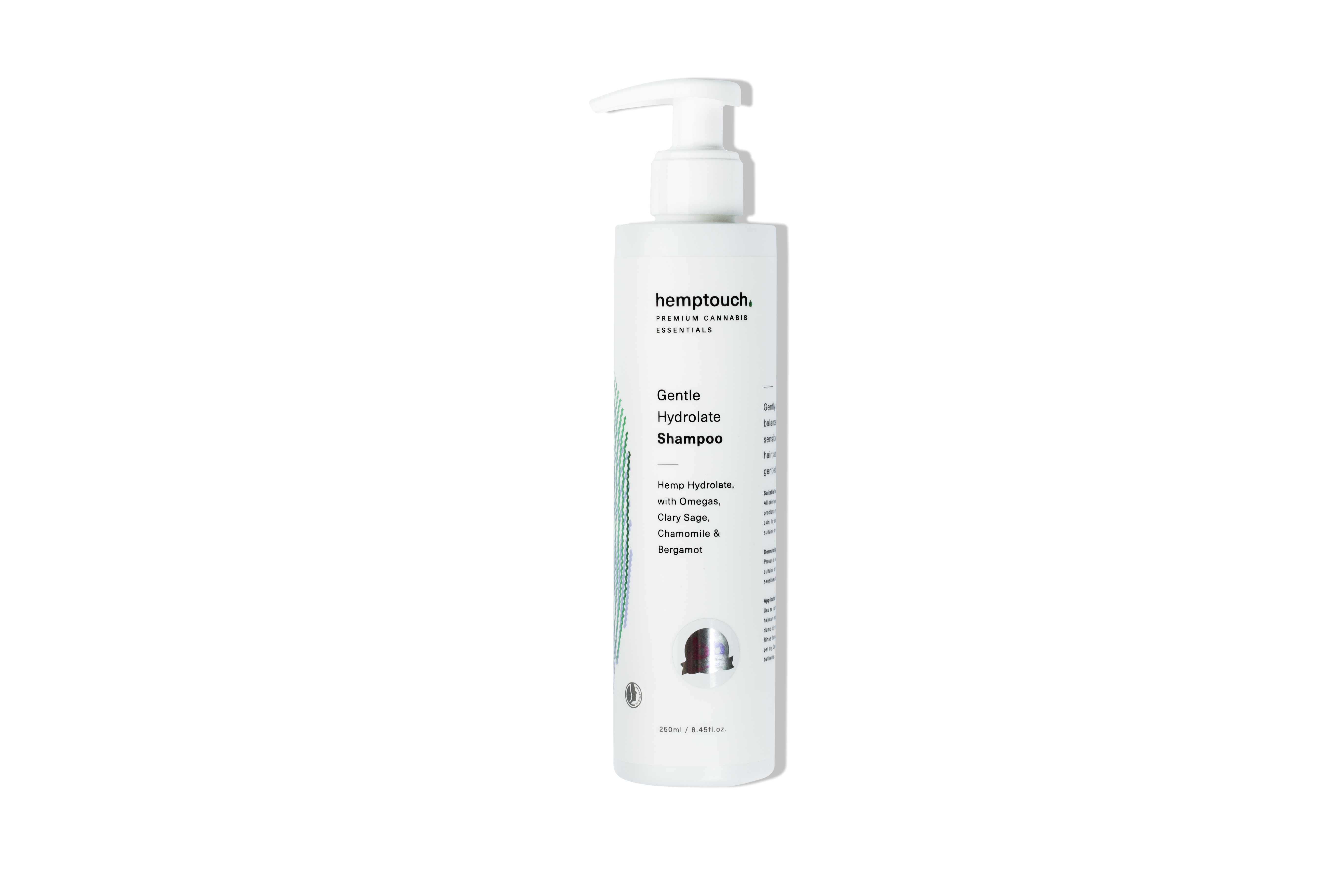 Švelnus kanapių hidrolato šampūnas